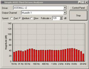 ASIO based Third Octave Analyser